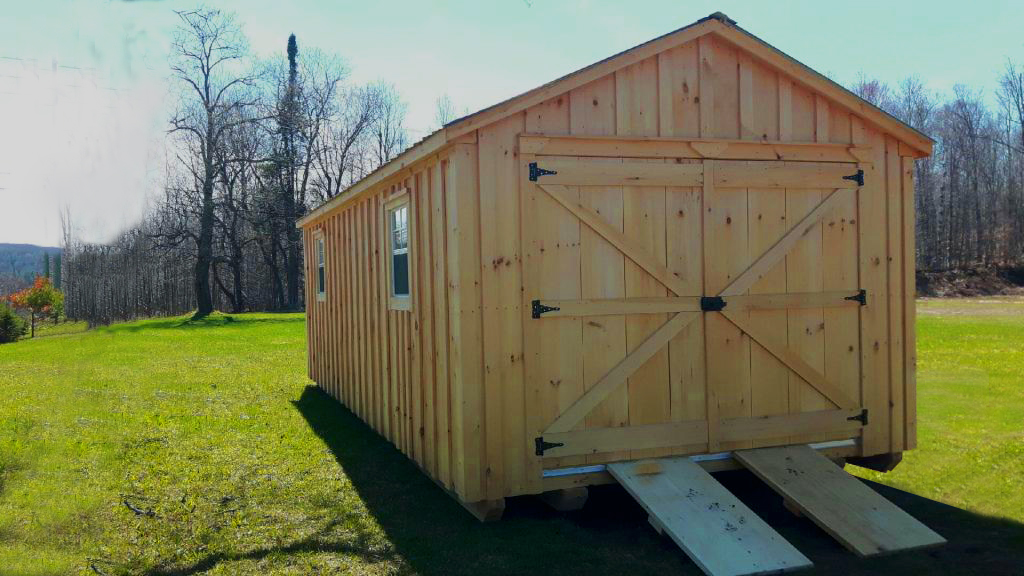 12 x 24 Board and Batten Shed with Ramp