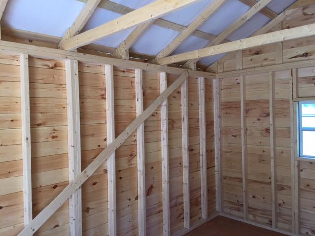 Canadian Built 10x16 Inside Left Wall Sheds Quebec