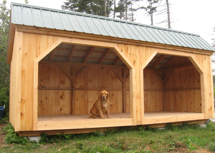 Double Wood Storage Shed