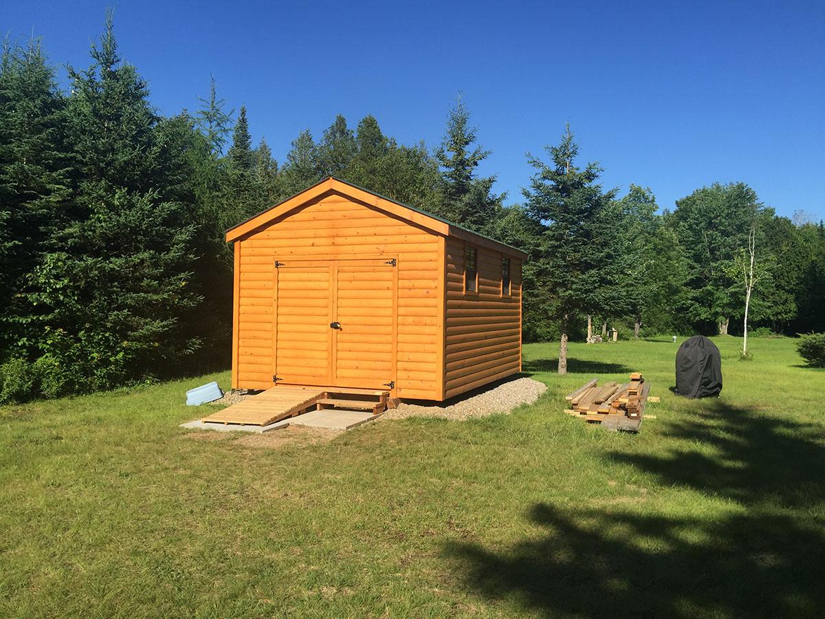 On Site View Log Shed 2 Sheds Quebec West Quebec Shed